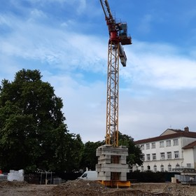 Implantation de la grue
